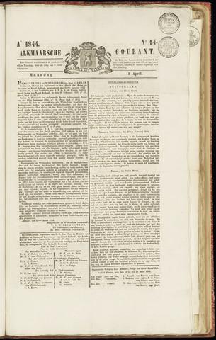 Alkmaarsche Courant 1844-04-01