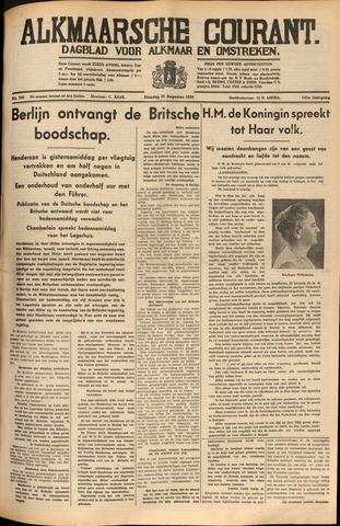 Alkmaarsche Courant 1939-08-29