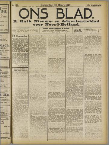 Ons Blad : katholiek nieuwsblad voor N-H 1916-03-30
