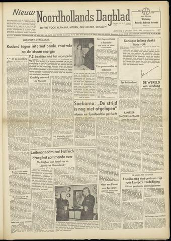 Nieuw Noordhollandsch Dagblad : voor Alkmaar en omgeving 1948-10-02