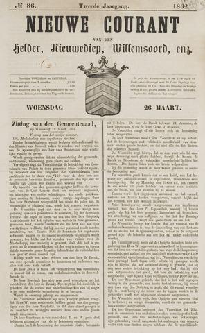 Nieuwe Courant van Den Helder 1862-03-26