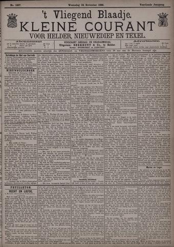 Vliegend blaadje : nieuws- en advertentiebode voor Den Helder 1886-11-24