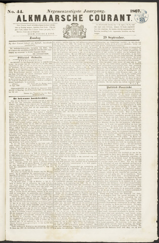 Alkmaarsche Courant 1867-09-29
