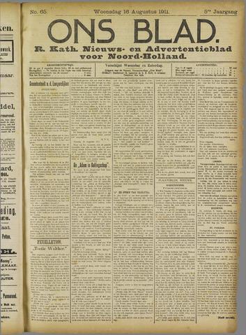 Ons Blad : katholiek nieuwsblad voor N-H 1911-08-16