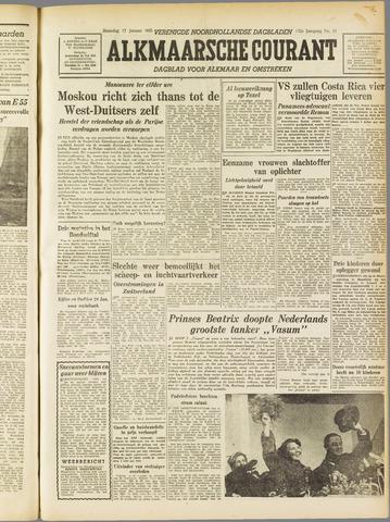 Alkmaarsche Courant 1955-01-17