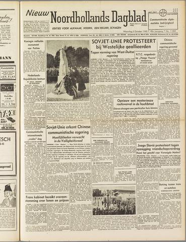 Nieuw Noordhollandsch Dagblad : voor Alkmaar en omgeving 1949-10-03