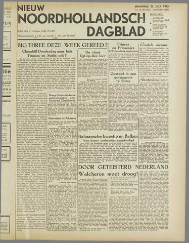 Nieuw Noordhollandsch Dagblad : voor Alkmaar en omgeving 1945-07-23