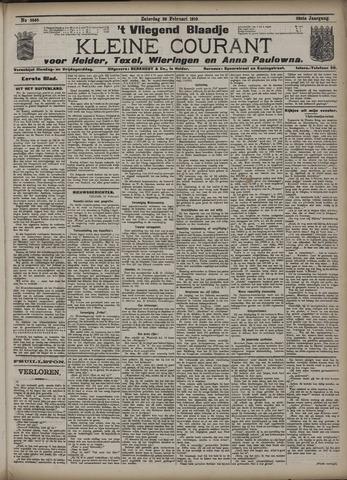 Vliegend blaadje : nieuws- en advertentiebode voor Den Helder 1910-02-26