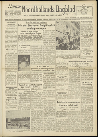 Nieuw Noordhollandsch Dagblad : voor Alkmaar en omgeving 1948-11-19