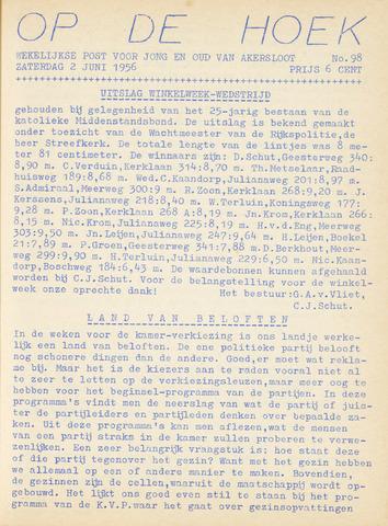 Op De Hoek, weekblad voor Akersloot 1956-06-02