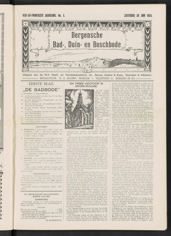 Bergensche bad-, duin- en boschbode 1934-06-30