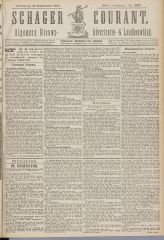 Schager Courant 1920-09-15