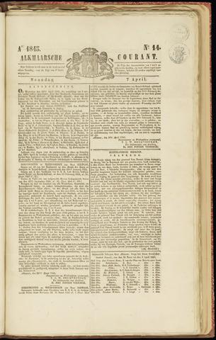 Alkmaarsche Courant 1845-04-07