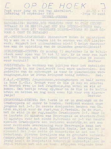 Op De Hoek, weekblad voor Akersloot 1954-09-18