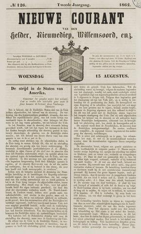 Nieuwe Courant van Den Helder 1862-08-13