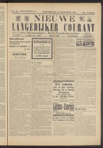 Nieuwe Langedijker Courant 1931-12-24