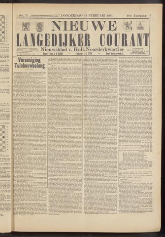 Nieuwe Langedijker Courant 1931-02-19