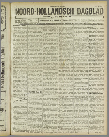 Ons Blad : katholiek nieuwsblad voor N-H 1921-10-13