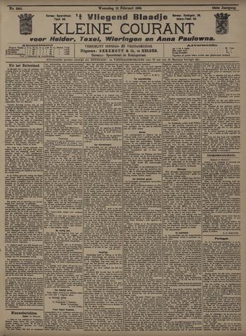 Vliegend blaadje : nieuws- en advertentiebode voor Den Helder 1908-02-12