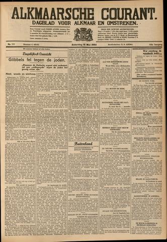 Alkmaarsche Courant 1934-05-12