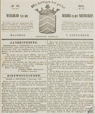 Weekblad van Den Helder en het Nieuwediep 1857-09-07