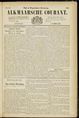 Alkmaarsche Courant 1893-02-05