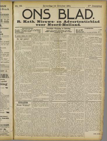 Ons Blad : katholiek nieuwsblad voor N-H 1911-10-14