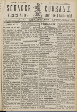Schager Courant 1920-07-10