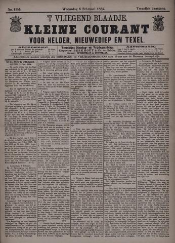 Vliegend blaadje : nieuws- en advertentiebode voor Den Helder 1884-02-06