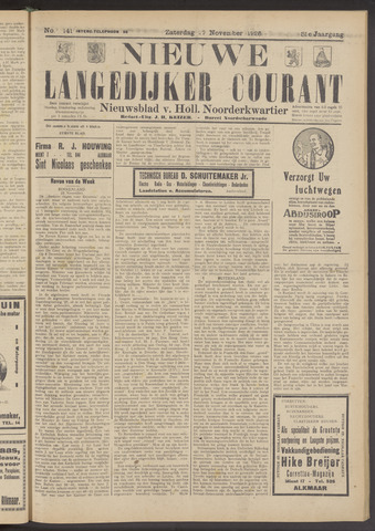 Nieuwe Langedijker Courant 1926-11-27