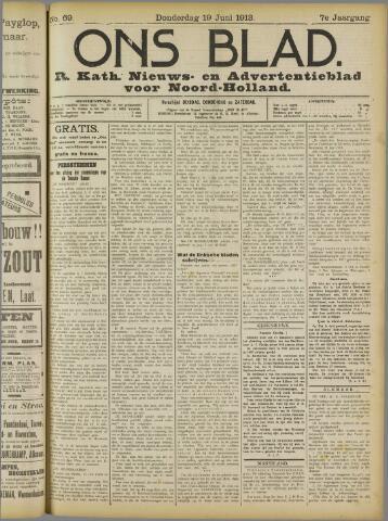 Ons Blad : katholiek nieuwsblad voor N-H 1913-06-19