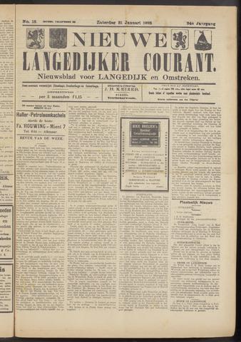 Nieuwe Langedijker Courant 1925-01-31