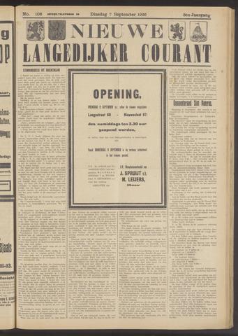 Nieuwe Langedijker Courant 1926-09-07