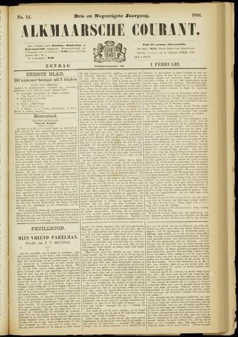Alkmaarsche Courant 1891-02-01