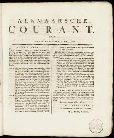 Alkmaarsche Courant 1816-05-13