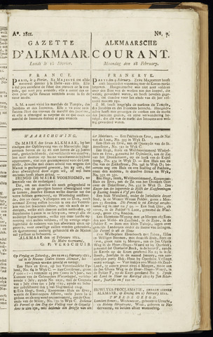 Alkmaarsche Courant 1811-02-18