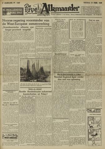 De Vrije Alkmaarder 1949-02-25