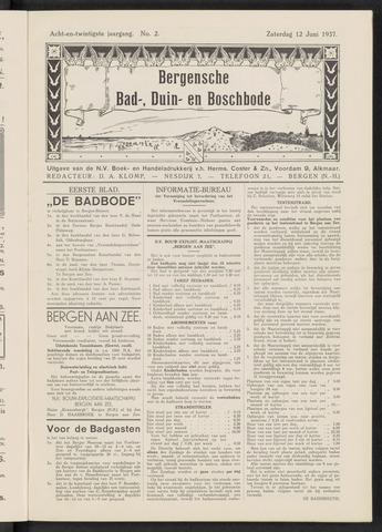 Bergensche bad-, duin- en boschbode 1937-06-12