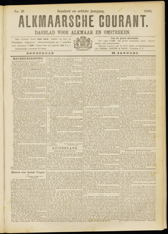 Alkmaarsche Courant 1906-01-25