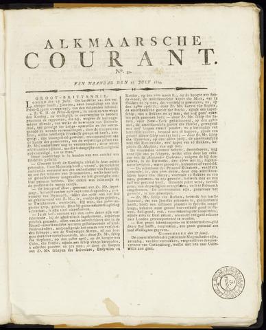 Alkmaarsche Courant 1814-07-25