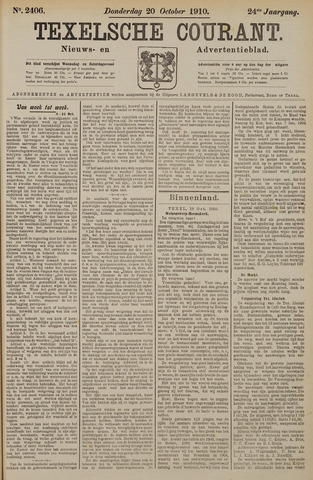 Texelsche Courant 1910-10-20