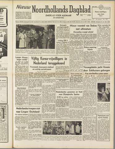 Nieuw Noordhollandsch Dagblad : voor Alkmaar en omgeving 1951-08-22