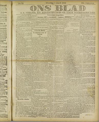 Ons Blad : katholiek nieuwsblad voor N-H 1919-04-01