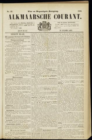 Alkmaarsche Courant 1892-02-21