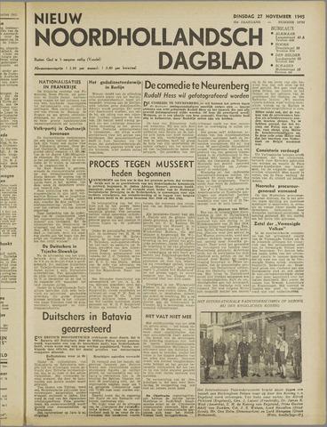 Nieuw Noordhollandsch Dagblad : voor Alkmaar en omgeving 1945-11-27