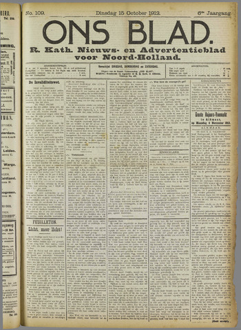 Ons Blad : katholiek nieuwsblad voor N-H 1912-10-15