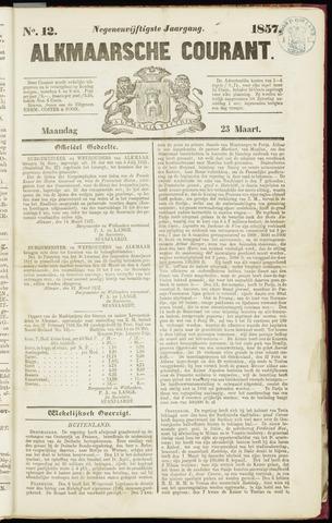 Alkmaarsche Courant 1857-03-23