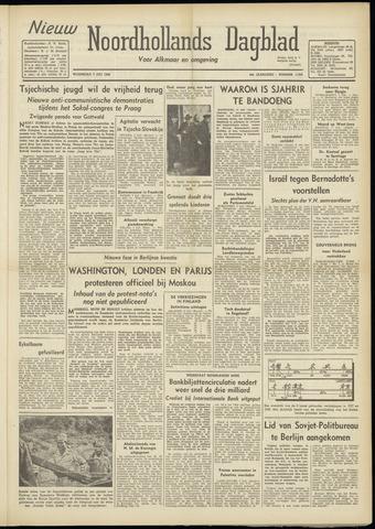 Nieuw Noordhollandsch Dagblad : voor Alkmaar en omgeving 1948-07-07