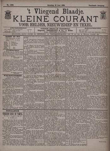 Vliegend blaadje : nieuws- en advertentiebode voor Den Helder 1886-06-12