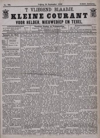 Vliegend blaadje : nieuws- en advertentiebode voor Den Helder 1880-09-24